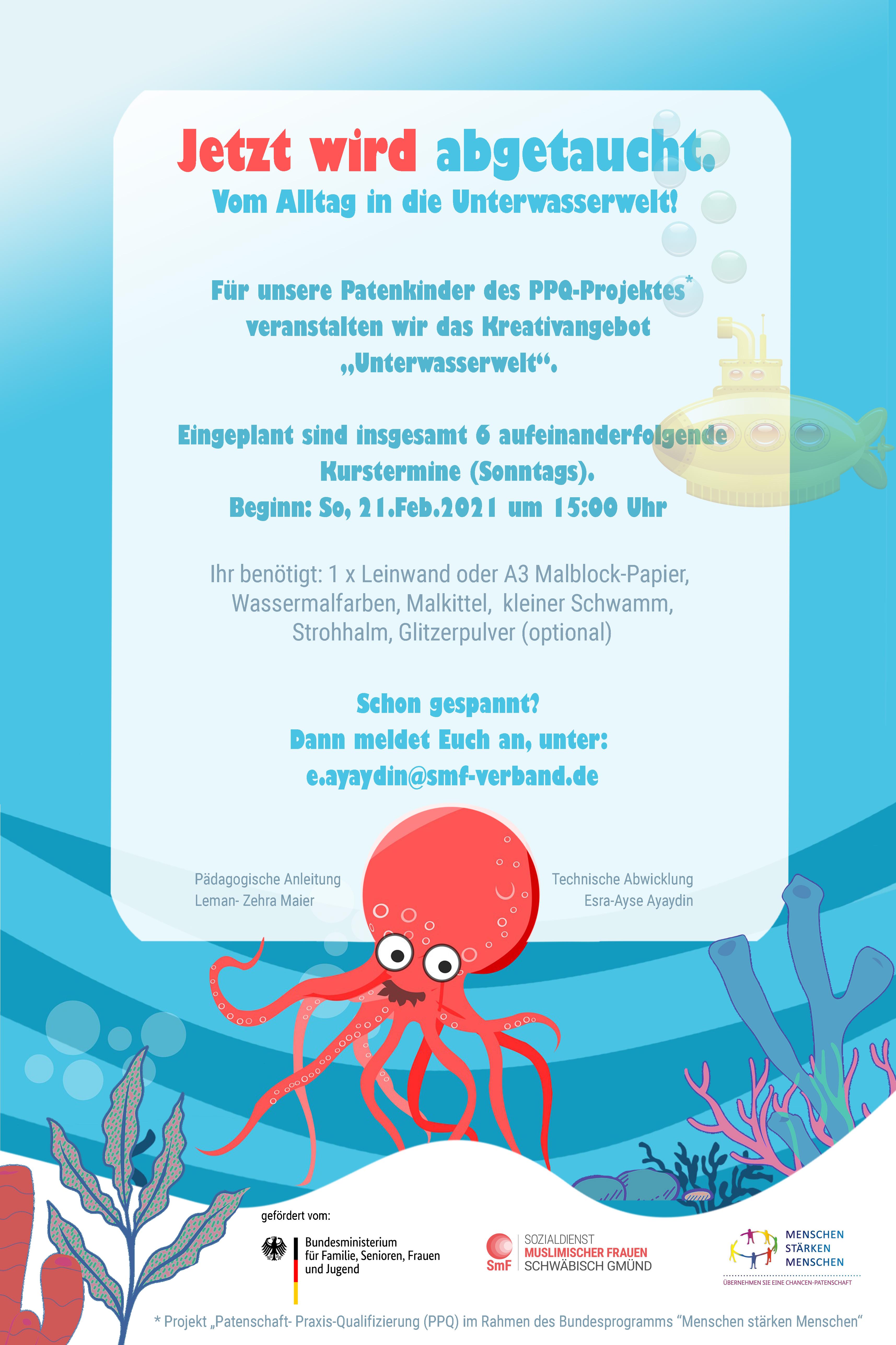 PPQ online Kreativangebot für Patenkinder